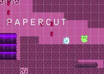 Title screen of Papercut game